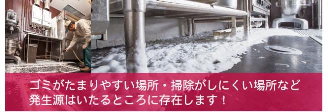 ゴミがたまりやすい場所・掃除がしにくい場所など発生源は至る所に存在します。